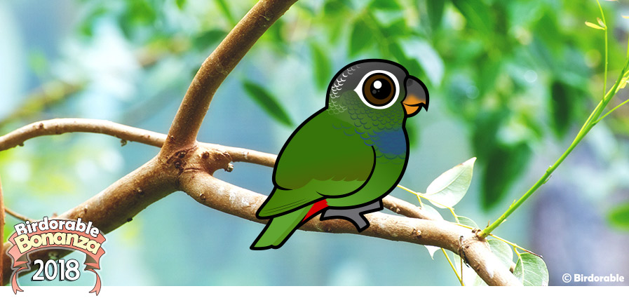Cute Birdorable Scaly-headed Parrot