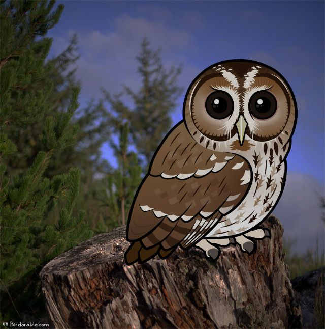 Cartoon Birdorable Tawny Owl