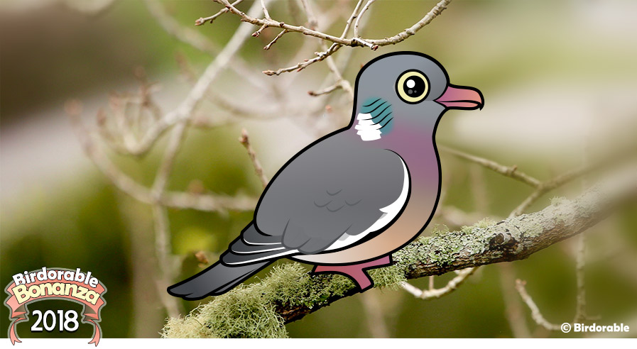 Cute Birdorable Wood Pigeon